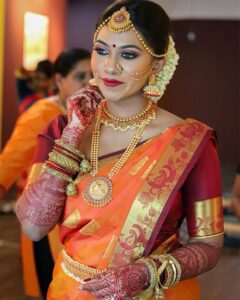 Gorgeous South Indian Wedding Bridal Look